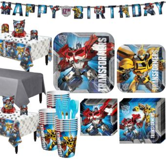 Transformers Tableware Party Kit for 24 Guests