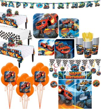 Blaze and the Monster Machines Tableware Ultimate Kit for 24 Guests