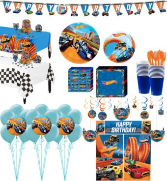 Hot Wheels Tableware Ultimate Kit for 16 Guests