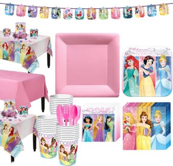Disney Princess Tableware Party Kit for 24 Guests