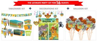 Lion Guard Tableware Ultimate Kit for 16 Guests