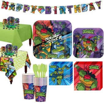 Teenage Mutant Ninja Turtles Tableware Party Kit for 16 Guests