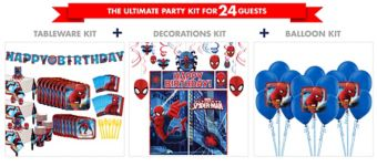 Spider-Man Homecoming Tableware Ultimate Kit for 24 Guests