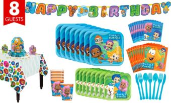 Bubble Guppies Tableware Party Kit for 8 Guests