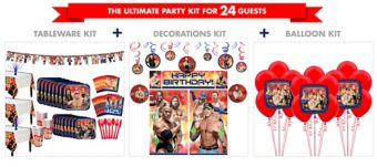 WWE Tableware Ultimate Kit for 24 Guests