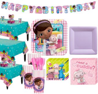 Doc McStuffins Tableware Party Kit for 24 Guests