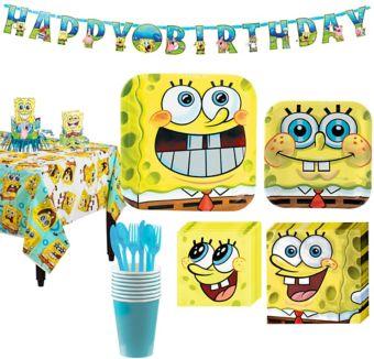 SpongeBob Tableware Party Kit for 8 Guests