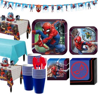 Ultimate Spider-Man Tableware Party Kit for 24 Guests