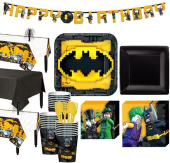 Lego Batman Movie Tableware Party Kit for 24 Guests