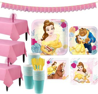 Beauty and the Beast Tableware Party Kit for 24 Guests