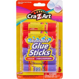 Cra-Z-Art Washable Glue Sticks 6ct
