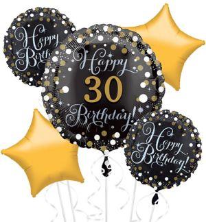 Prismatic 30th Birthday Balloon Bouquet 5pc