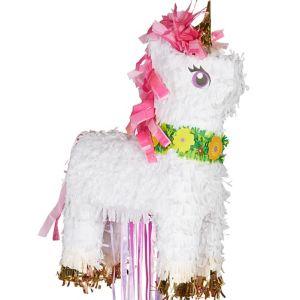 Pull String Sparkling Unicorn Pinata