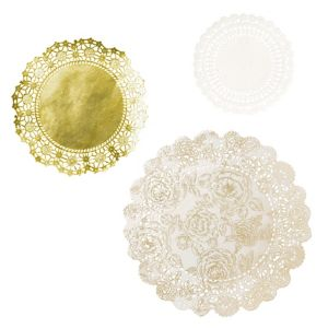 Porcelain Gold Round Doilies 24ct