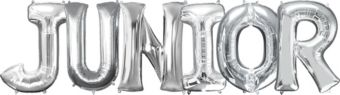 Giant Silver Junior Letter Balloon Kit