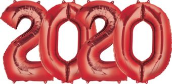 Giant Red 2020 Number Balloon Kit