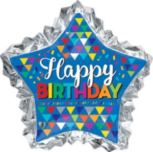 Giant Scalloped Edge Star Birthday Balloon
