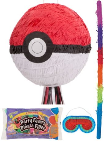 Pokeball Pinata Kit with Candy and Favors - Pokemon