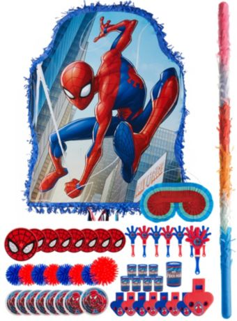 Blue Spider-Man Pinata Kit with Favors