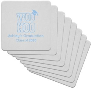 Personalized Graduation 80pt Square Coasters