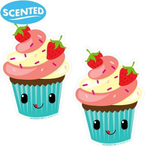 Jumbo Smickers Strawberry Cupcake Scratch & Sniff Stickers 2ct