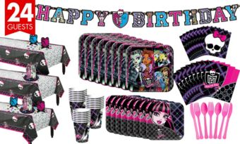 Monster High Tableware Party Kit for 24 Guests