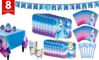 Cinderella Tableware Party Kit for 8 Guests