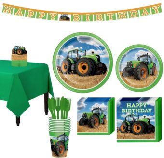 Tractor Tableware Party Kit for 8 Guests