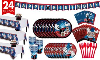 Magic Party Tableware Party Kit for 24 Guests