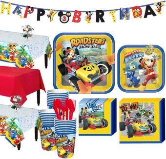 Mickey Mouse Roadster Tableware Party Kit for 24 Guests