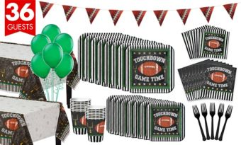 Football Game Time Basic Party Kit for 36 Guests