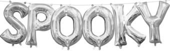 Air-Filled Silver Spooky Letter Balloon Kit