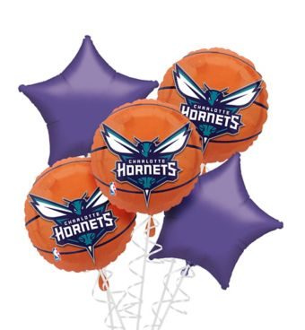 Charlotte Hornets Balloon Bouquet 5pc