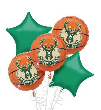 Milwaukee Bucks Balloon Bouquet 5pc