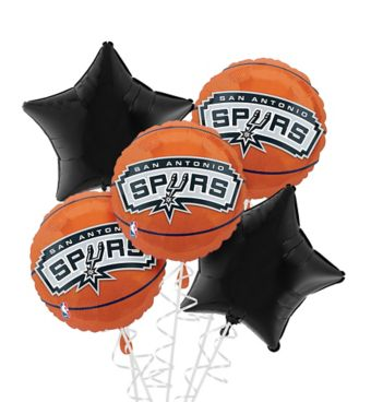 San Antonio Spurs Balloon Bouquet 5pc