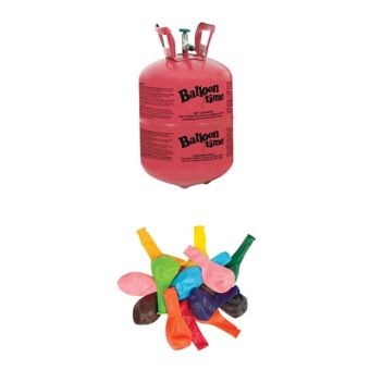 Small Helium Tank 8.9cu ft Kit with Balloons & Ribbon