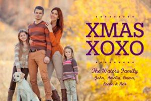 Custom Xmas XOXO Photo Cards