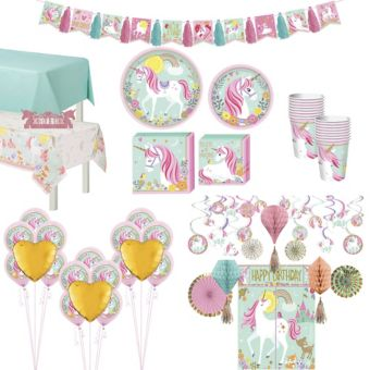 Magical Unicorn Tableware Ultimate Kit for 16 Guests