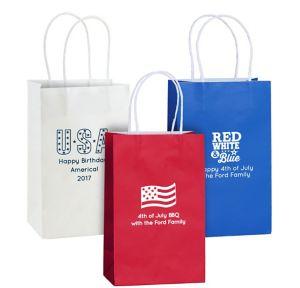 Personalized Medium 4th of July Kraft Bags