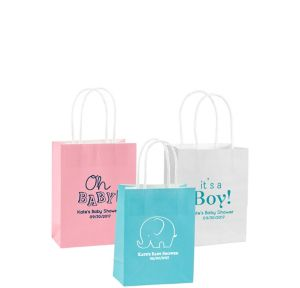 Personalized Small Baby Shower Kraft Bags