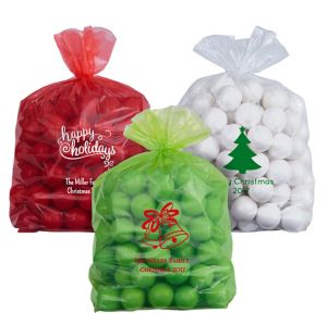 Personalized Medium Christmas Plastic Treat Bags