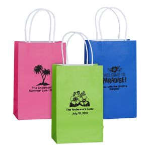 Personalized Medium Luau Kraft Bags