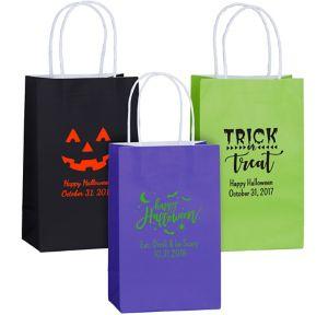 Personalized Medium Halloween Kraft Bags