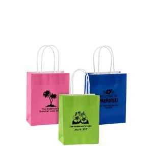 Personalized Small Luau Kraft Bags