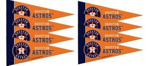 Mini Houston Astros Pennant Flags 8ct