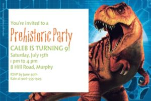 Custom Jurassic World Invitation