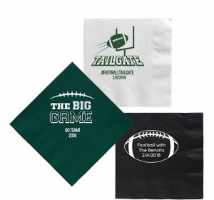 Personalized Football Lunch Napkins