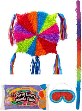 Add-a-Balloon Multicolor Pinata Kit with Candy & Favors