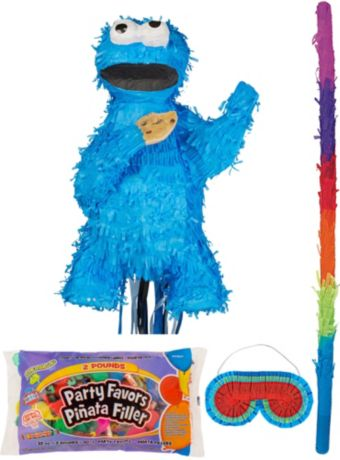 Cookie Monster Pinata Kit with Candy & Favors