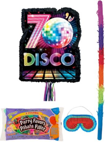 Disco Fever Pinata Kit with Candy & Favors